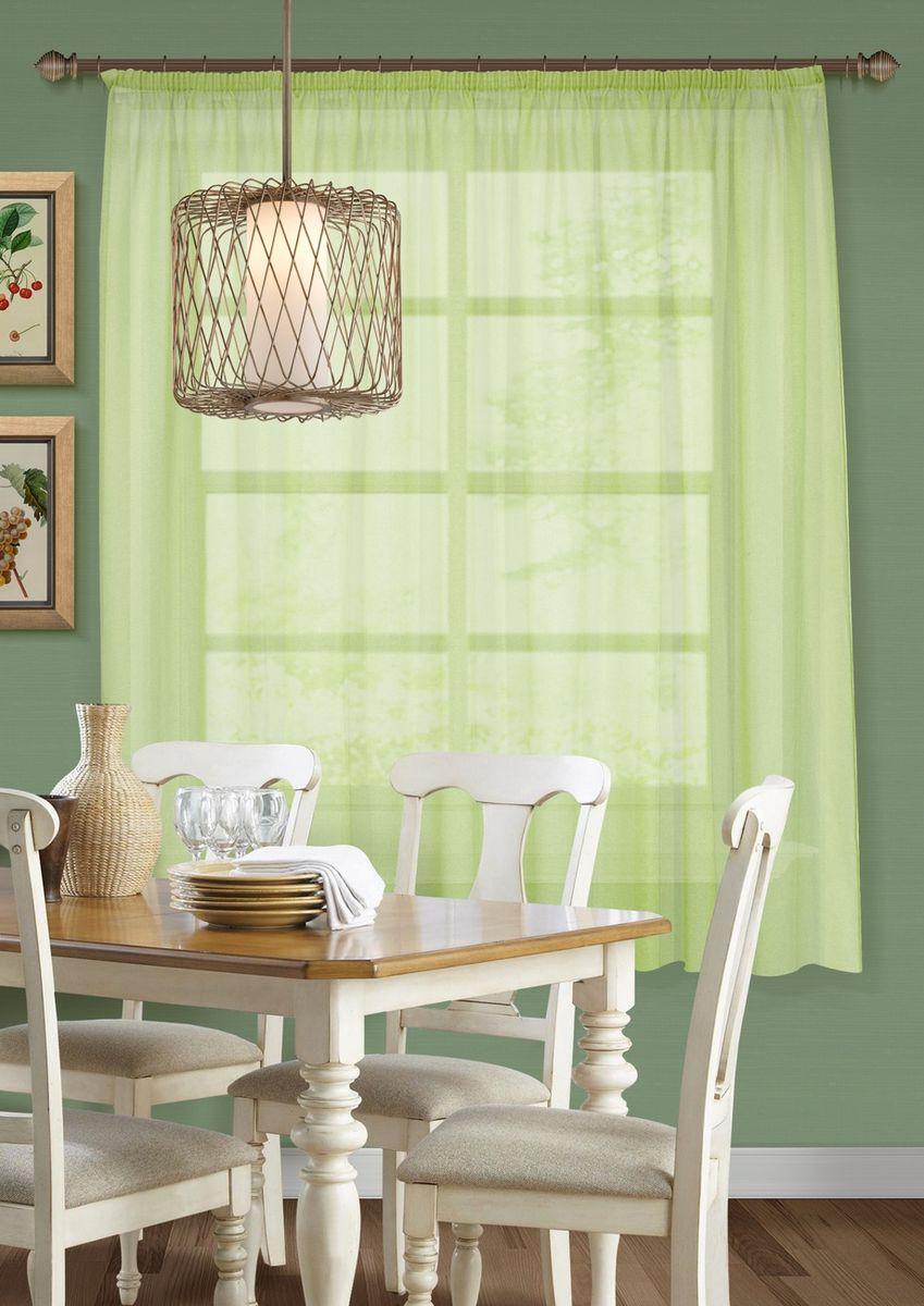 Штора KauffOrt Талия, на ленте, цвет: светло-зеленый, высота 175 см39111600180Комплектация: 1 Тюль. Материал: Сетка. Состав: 100% Полиэстер. Цвет: салатовый. Применение: кухня, дача.