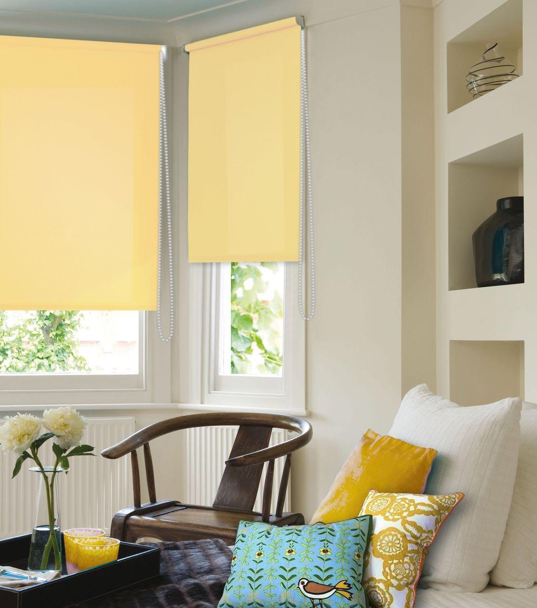 Штора рулонная Эскар  Ролло , цвет: желтый, ширина 150 см, высота 170 см - Шторы