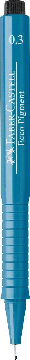 Faber-Castell Ручка капиллярная Ecco Pigment цвет чернил синий 166351166351Капиллярная ручка Faber-Castell Ecco Pigment идеальна для письма, рисования, набросков. Пигментные водо- и светоустойчивые чернила позволяют рисовать с линейкой и по шаблону. Длинный кончик с металлическим корпусом, эргономичная область захвата, металлический клип.