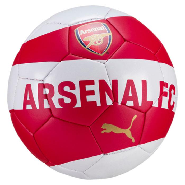 Мяч футбольный Puma Arsenal Fan Ball, цвет: красный, белый. 08281501. Размер 508281501Высококачественный мяч для любителей футбола и болельщиков, желающих поддержать свой любимый футбольный клуб Арсенал. Благодаря панелям, изготовленным из передовых материалов, и надежно прошитым машинным способом, а также приятной глазу полиуретановой поверхности играть этим мячом – одно удовольствие!