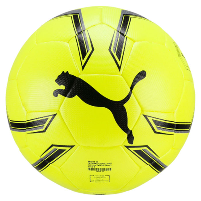Мяч футбольный Puma Pro Training 2 Hybrid Ball, цвет: желтый. 08281804. Размер 508281804Мяч для тренировок начинающих футболистов также подходит для игр с друзьями. Гибридная конструкция повышает износостойкость и водоотталкивание, а также способствует сохранению мячом своей формы. Сочетание покрытия из полиуретана, подложки из вспененного этиленвинилацетата и полиэстера и резиновой камеры создает такие характеристики мяча, которые обеспечивают удобство приема, сохранение формы, чуткое реагирование на любые действия игрока, предсказуемость отскока, отличные аэродинамические качества.