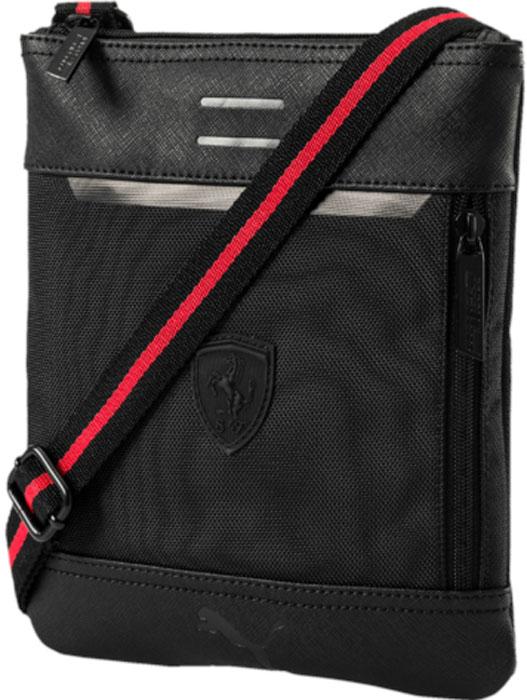 Сумка на плечо Puma Ferrari Ls Flat Portable, цвет: черный, 1,5 л. 07484201 - Сумки