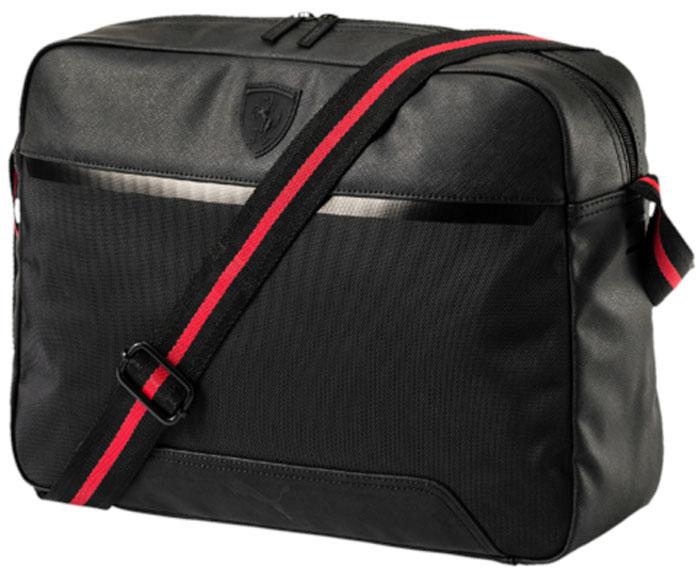 Сумка на плечо Puma Ferrari Ls Reporter, цвет: черный, 12 л. 07484401 - Сумки