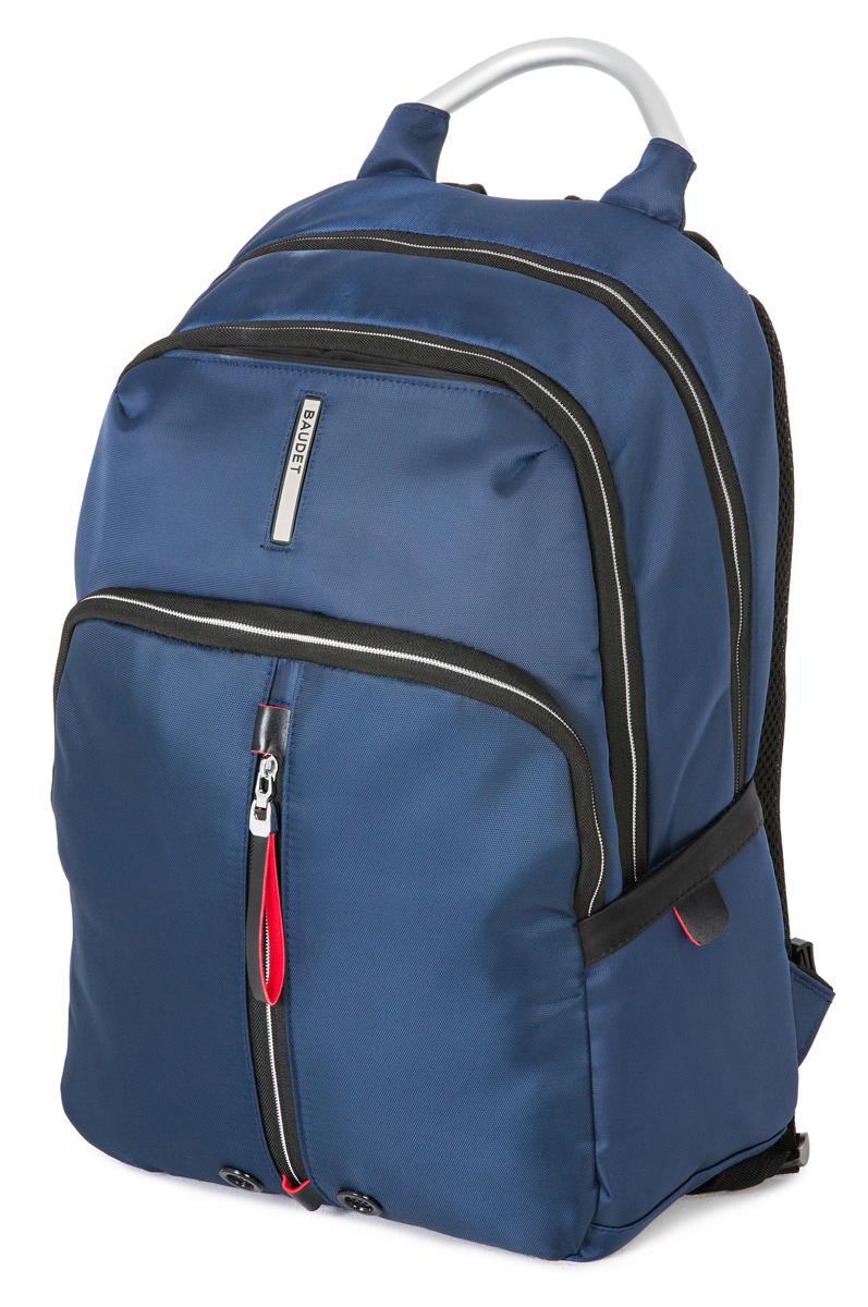 Рюкзак спортивный Baudet, цвет: синий, 20 л4680020303037Рюкзак Baudet выполнен из прочного износостойкого текстиля. Детали: ручка для переноски; регулируемые плечевые ремни; шесть наружных карманов (три из них на молнии и три - без застежки; два объемных отделения с застежкой на двухзамковую молнию; два внутренних кармана, отделение для ноутбука, отделение для планшета; укрепленные лямки; анатомическая спинка.