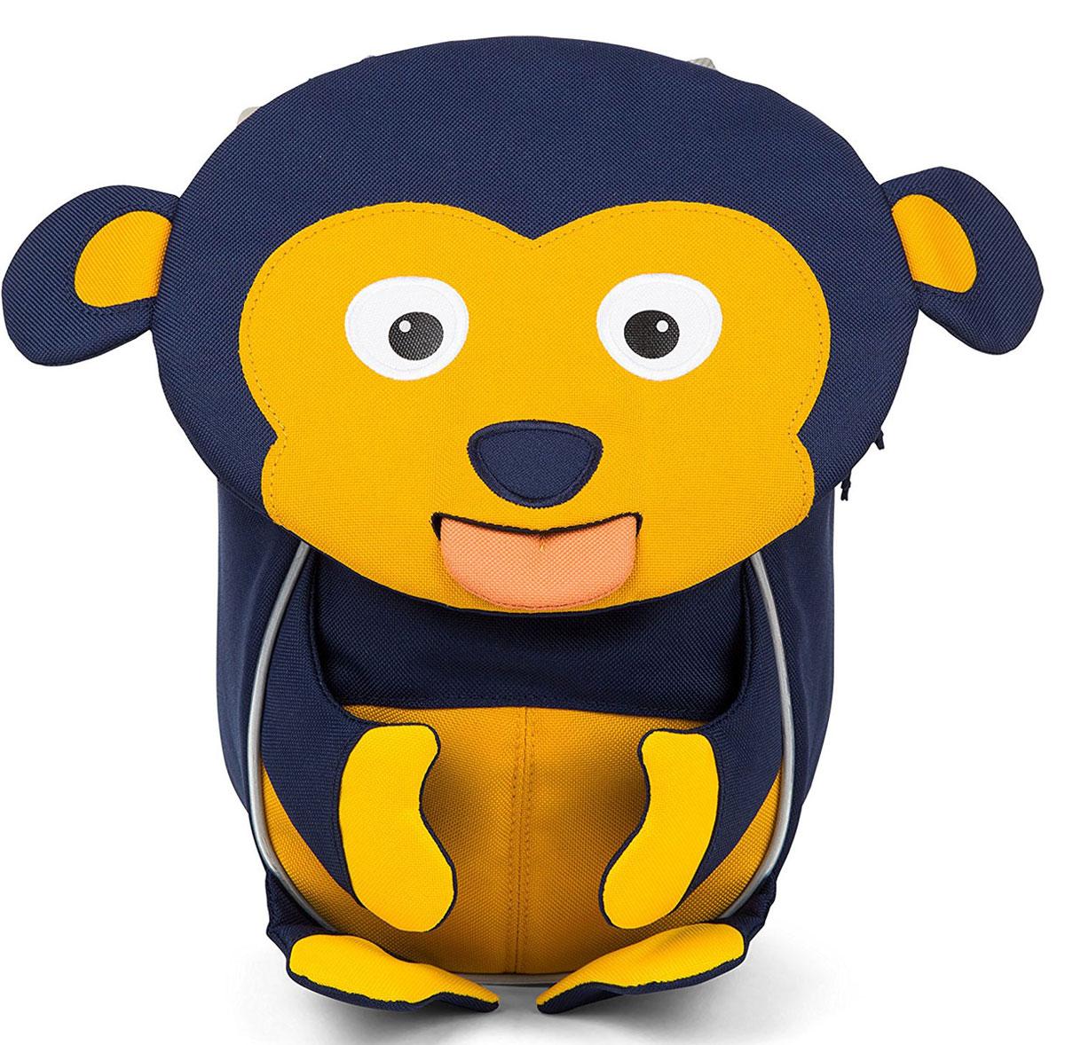 Affenzahn Рюкзак дошкольный Marty MonkeyAFZ-FAS-002-011Рюкзак Affenzahn, выполненный из прочного материала, предназначен для детей раннего возраста.Предусмотрена возможность регулировки лямочной системы, в частности, нагрудного ремня по высоте. Рюкзак включает в себя вместительное внутреннее отделение с растягивающимся карманом. На ярлыке в виде высовывающегося языка можно написать имя ребенка. Изделие оснащено ручкой для переноски. Светоотражающие элементы на внешней стороне рюкзака повышают безопасность на улице.