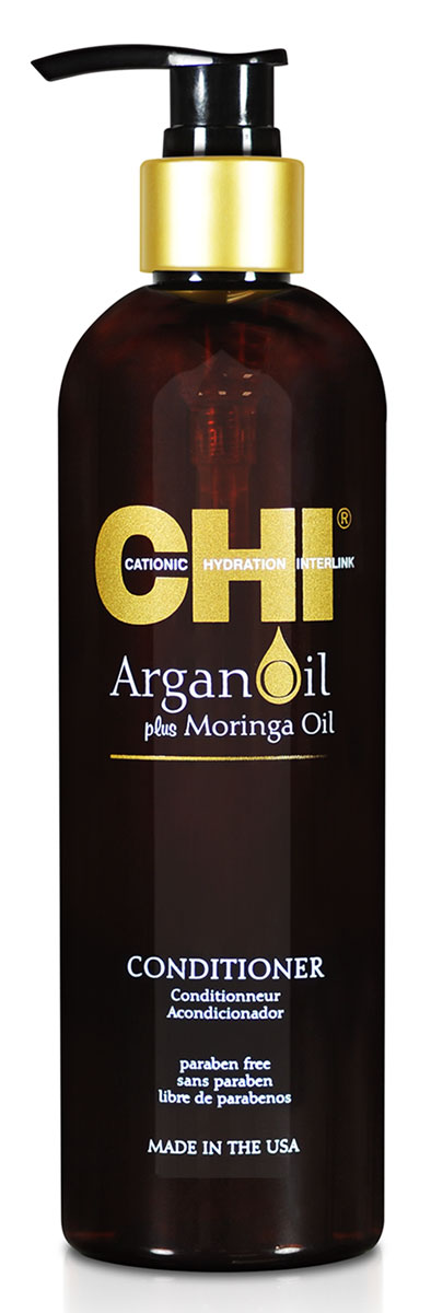 CHI Кондиционер Argan Oil, 355 млCHIAC12Кондиционер CHI Argan Oil омолаживает сухие и поврежденные волосы, насыщая их влагой, витаминами и питательными маслами, предотвращая их спутывание и восстанавливая блеск. Волосы становятся гладкими и мягкими. Кондиционер CHI Argan Oil повышает прочность и эластичность волос, помогая защитить от повреждения и от негативного воздействия УФ-лучей.