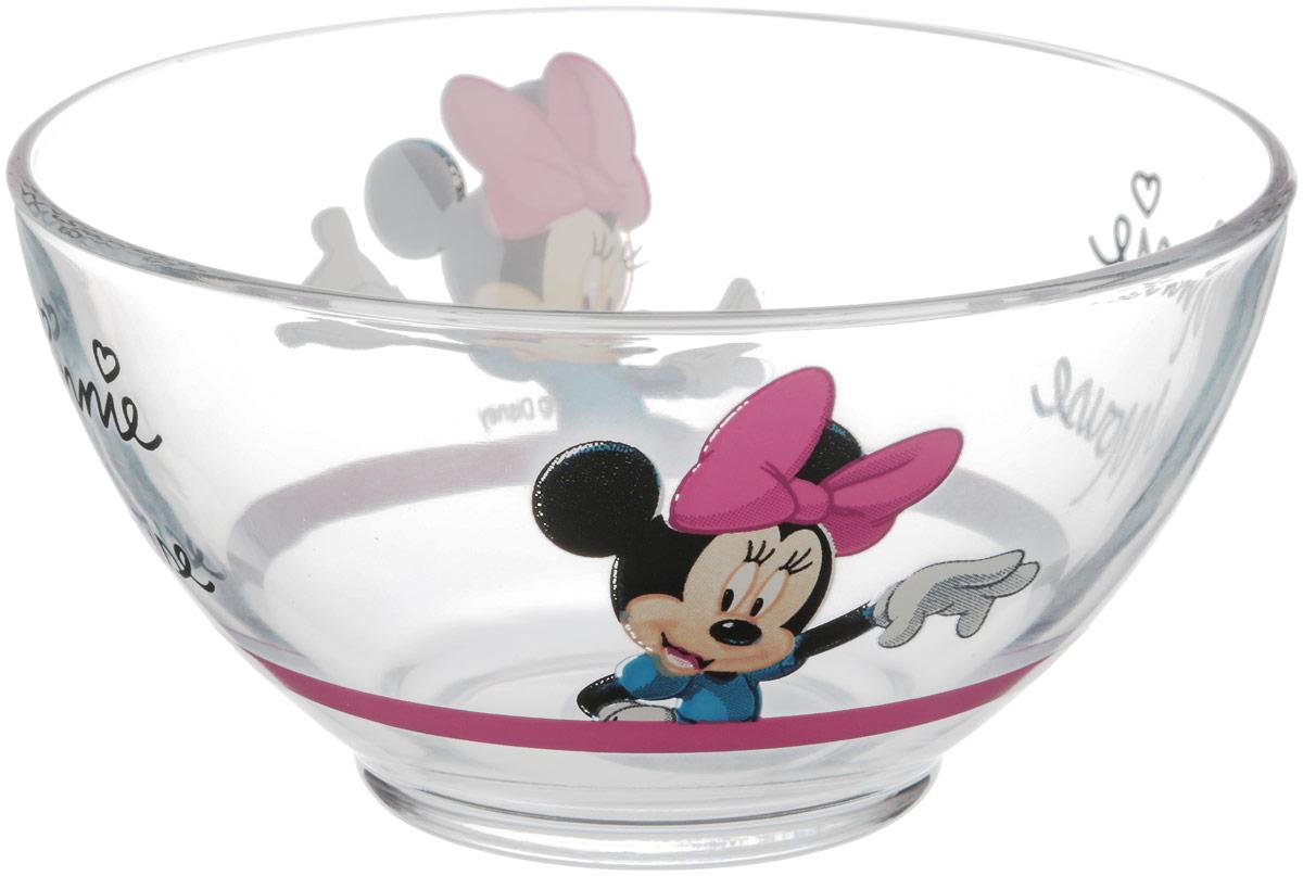 Пиала Luminarc Oh Minnie, 500 млH9229Пиала Luminarc Oh Minnie изготовлена из высококачественного стекла. Внешняя стенка оформлена красочным изображением. Изделие прекрасно подойдет для салатов, супа или мороженого. Благодаря оригинальному дизайну, такая пиала понравится вашим детям. Она дополнит коллекцию кухонной посуды и будет служить долгие годы.Диаметр пиалы (по верхнему краю): 13 см. Высота пиалы: 7 см.