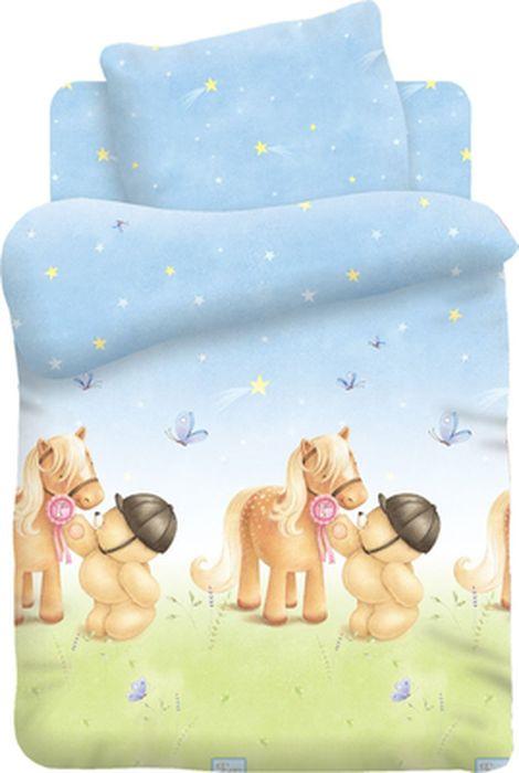 Forever Friends Комплект детского постельного белья Мишка и Пони цвет голубой 3 предмета419621
