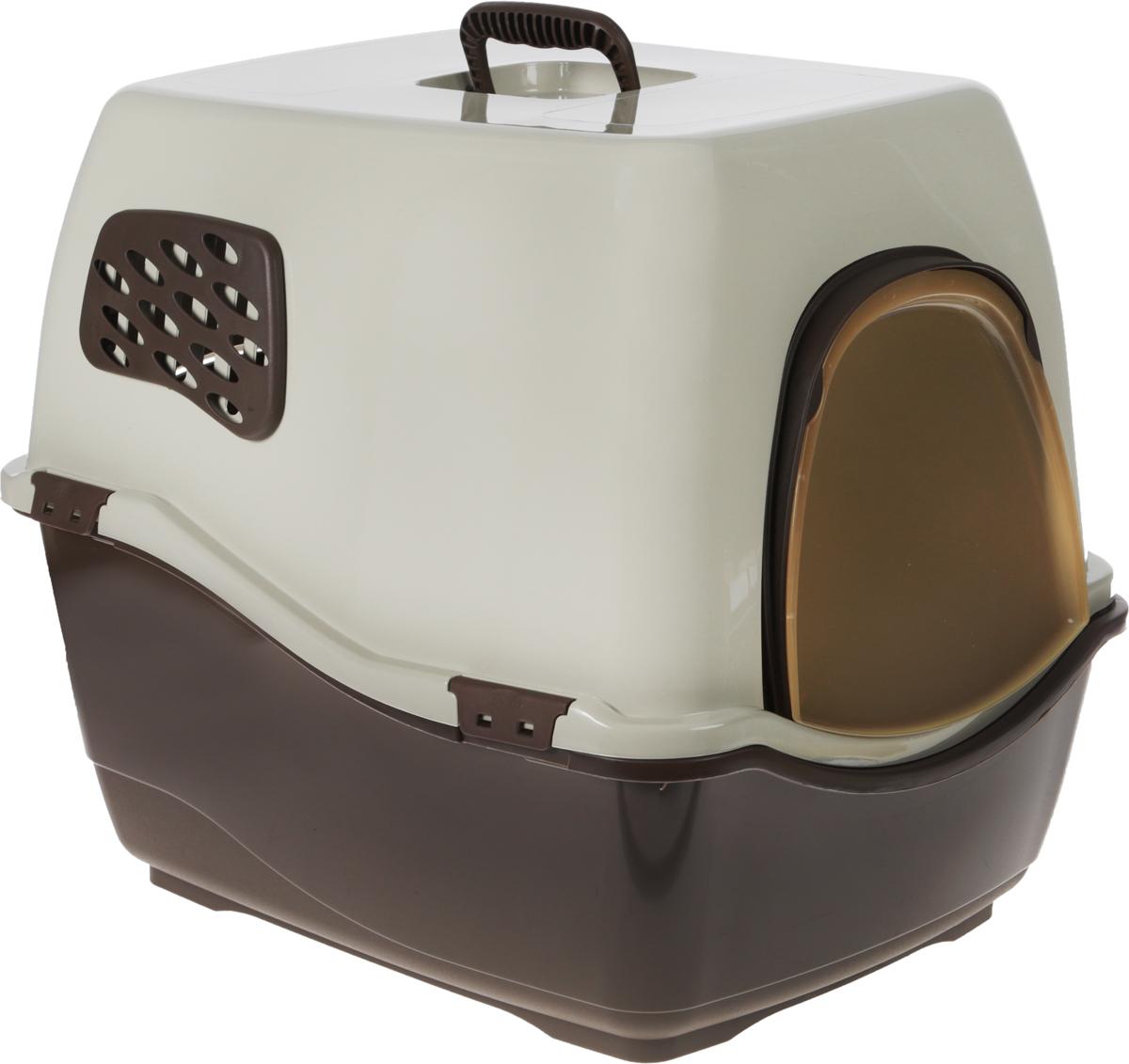 Био-туалет для кошек Marchioro Bill 2F, цвет: коричневый, бежевый, 57 х 45 х 48 см1065102300824Пластиковый био-туалет поможет защитить дом от неприятных запахов и придется по нраву даже самым привередливым питомцам. Закрытый био-туалет Marchioro Bill 2F с угольным фильтром препятствует распространению неприятных запахов.Подвижная передняя створка позволяет животному самостоятельно пользоваться туалетом.В комплект входит фильтр, дверка и ручка. Фильтр необходимо менять каждые 3-6 месяцев. Размер 57 х 45 х 48 см.