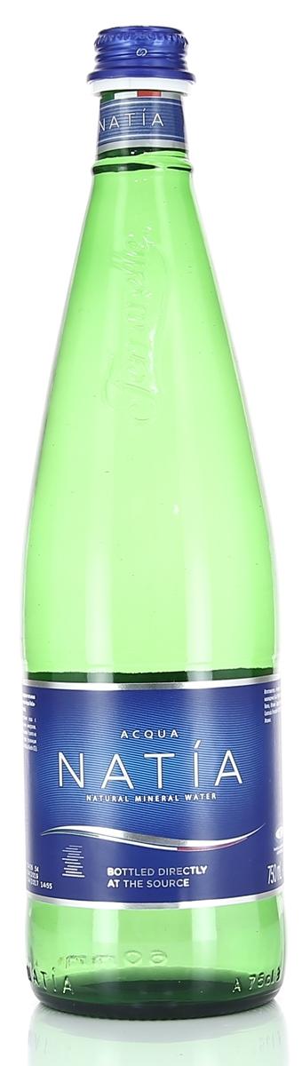 Acqua Natia вода минеральная, 0,75 л стеклоWNAT00-075B12Acqua Natia - минеральная природная питьевая столовая негазированная вода с пониженным содержанием минералов. Гидрокарбонатная кальциевая. Разлита на источнике: Натия, Риардо (провинция Казерты), Италия (Source Natia, at Riardo (CE)).Химический состав: pH: 6,3 мг/лКальций: 36 мг/л Магний: 6 мг/лНатрий: 30 мг/лКалий: 28 мг/лГидрокарбонаты: 220 мг/лСульфаты: 4,4 мг/лХлориды: 15 мг/лНитраты: 9,8 мг/лФториды: 1,1 мг/лДиоксид кремния: 88 мг/лОбщая минерализация 0,320 г/л Допускаются естественный осадок минеральных солей.