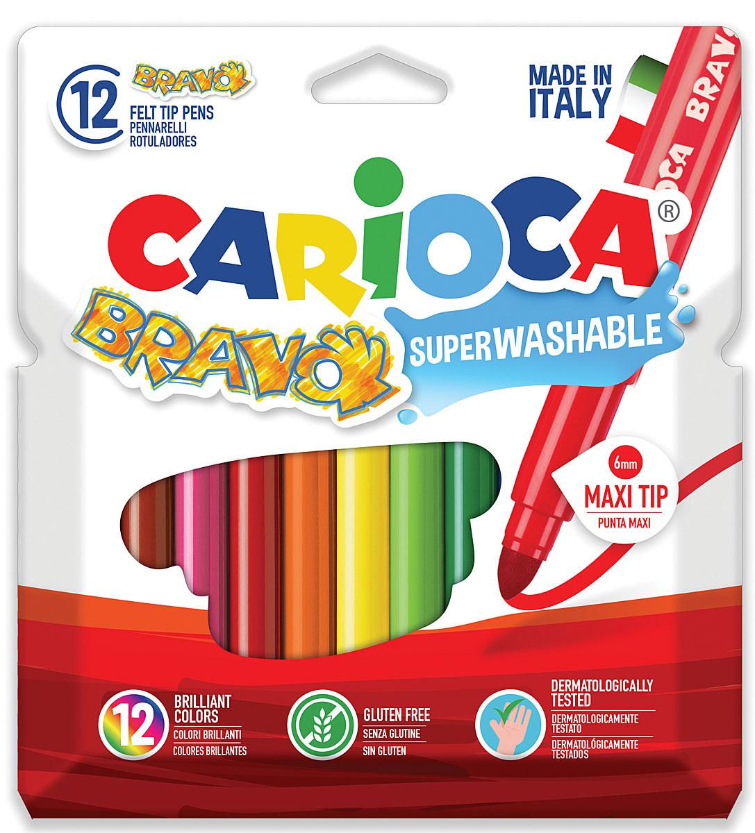Количество цветов: 12Толщина линии письма: 6 ммТип упаковки:  картонный конверт с европодвесомКоличество в упаковке: 12 шт.Страна происхождения: ИталияСуперсмываемыеВентилируемый колпачокУдаропрочный пишущий узелНе содержат глютен