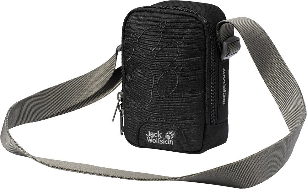 Сумка на плечо Jack Wolfskin Secretary, цвет: черный, 4 л. 86000-600086000-6000Небольшая сумка через плечо. Возьмите эту удобную маленькую сумку с собой в путешествие, чтобы ваш бумажник, MP3-плеер и ключи были в безопасности. В мягком основном отделении найдется место даже для небольшого фотоаппарата. В перегородке между отделениями предусмотрены три слота для карт памяти.