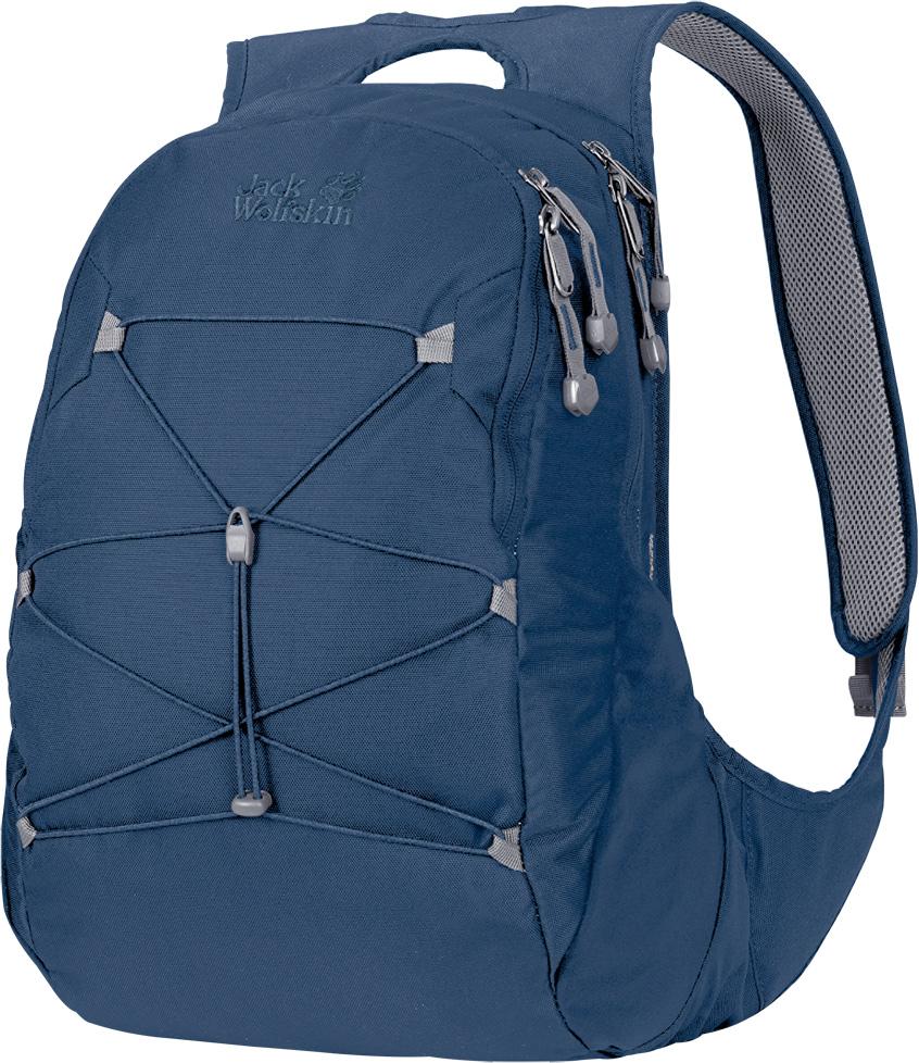 Рюкзак женский Jack Wolfskin Savona, цвет: синий, 20 л. 2004031-15882004031-1588Городской рюкзак для женщин в современном дизайне и с просторным основным отделением. В лесу на отдыхе, на прогулке по магазинам с подругами или для ежедневной дороги в офис, рюкзак Savona (Савона) станет вашим идеальным спутником. Мы разработали этот универсальный изящный рюкзак специально для женщин. Он оснащен оптимизированной системой подвески с широкими мягкими лямками и мягкими контактными поверхностями. При разработке системы подвески Snuggle Up Women (Снаггл Ап Вимен) для женщин нашей целью было создание плотно прилегающих к телу закругленных лямок без этих раздражающих кончиков, болтающихся всю дорогу. Верхняя ручка для переноски рюкзака также очень удобна и практична.В дни, когда прогноз погоды обещает ясное небо и ливень, эластичная шнуровка спереди позволит вам всегда иметь под рукой куртку от дождя.