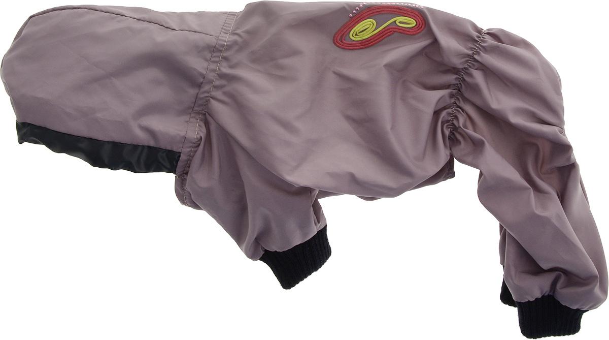 Дождевик прогулочный для собак GLG Бабочка, цвет: серо-розовый. Размер SMOS-016Прогулочный дождевик для собак GLG Бабочка выполнен из высококачественного текстиля разной текстуры. Рукава не ограничивают свободу движений, и собачка будет чувствовать себя в ней комфортно. Изделие застегивается с помощью кнопок.Изделие оформлено декоративной нашивкой.Модная и невероятно удобный непромокаемый дождевик защитит вашего питомца от дождя и насекомых на улице, согреет дома или на даче.