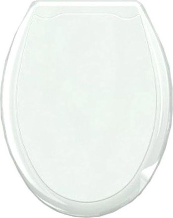 Сиденье для унитаза Стар Экспо, цвет: белый6301Однотонное пластиковое сиденье для унитаза. Отличный и недорогой вариант, если необходимо заменить испорченное сиденье, которое идет в комплекте к унитазу. Периодическая замена сиденья так же является нормой гигиены. Размер сиденья 45х37 см, в комплект входят: крышка, сидение и фурнитура для крепежа.