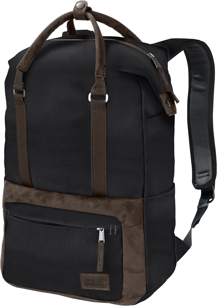 """Рюкзак Jack Wolfskin Tuscon Pack, цвет: черный, 16 л. 2005881-60002005881-6000Рюкзак для ноутбука с двумя ручками и отделкой из искусственной замши. Рюкзак Tuscon Pack (Таскон Пэк) - ваш надежный спутник в приключениях как в городе, так по всему миру. В странствиях по разным странам этот стильный маленький рюкзачок вместит в себя все, что вам потребуется на целый день.В нем есть место для ноутбука (14""""), еды на перекус и куртки для защиты от дождя. Вы можете носить его и как рюкзак, и как сумку. Как вам удобнее. Высококачественное исполнение, классический дизайн и привлекательная отделка из искусственной замши являются отличительными чертами серии Navajo (Навахо) для женщин."""