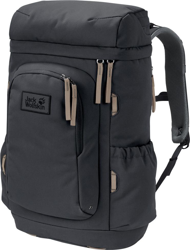 Рюкзак Jack Wolfskin Cannonball 30 Pack, цвет: темно-серый, 28 л. 2006171-63502006171-6350Компактный рюкзак с отделением для планшета и ноутбука для кратковременных поездок и ежедневного использования. Рюкзак Cannonball (Кэннонбол/Пушечное ядро) в нашей интерпретации поможет вам моментально собраться в путь. Прямоугольная форма делает этот рюкзак настолько устойчивым, что он будет стоять без вашей помощи, а система загрузки сверху и широкое отверстие позволят вам быстро упаковать вещи. Рюкзак достаточно вместителен для кратковременных поездок, а благодаря отделению для ноутбука, его также можно использовать для офиса и как городской рюкзак на каждый день.Дизайн простой и непритязательный - вполне соответствует стилю американских странствующих рабочих (хобо). Однако, основное отделение в сочетании с передним отделением и отделением в клапане, а также боковыми карманами, предоставят вам уйму возможностей взять с собой все необходимое для кочевой жизни. Вы можете упаковать свой ноутбук или планшет отдельно от других вещей и доставать его через застежку-молнию сбоку. Многочисленные петли-держатели и крепления снаружи рюкзака предоставляют огромный простор для импровизации в случае смены планов в последний момент. На создание серии Frontier (Фронтир) нас вдохновил образ жизни американских странствующих рабочих (хобо). Зарабатывая на жизнь сезонными заработками, им приходилось колесить по всей стране, зачастую - на товарных поездах. Их вещам полагалось быть прочными, и частенько они были продуманы со смекалкой и приспособлены под индивидуальные нужды путешественников. Именно эти идеи использовались при создании сумок и рюкзаков данной серии.