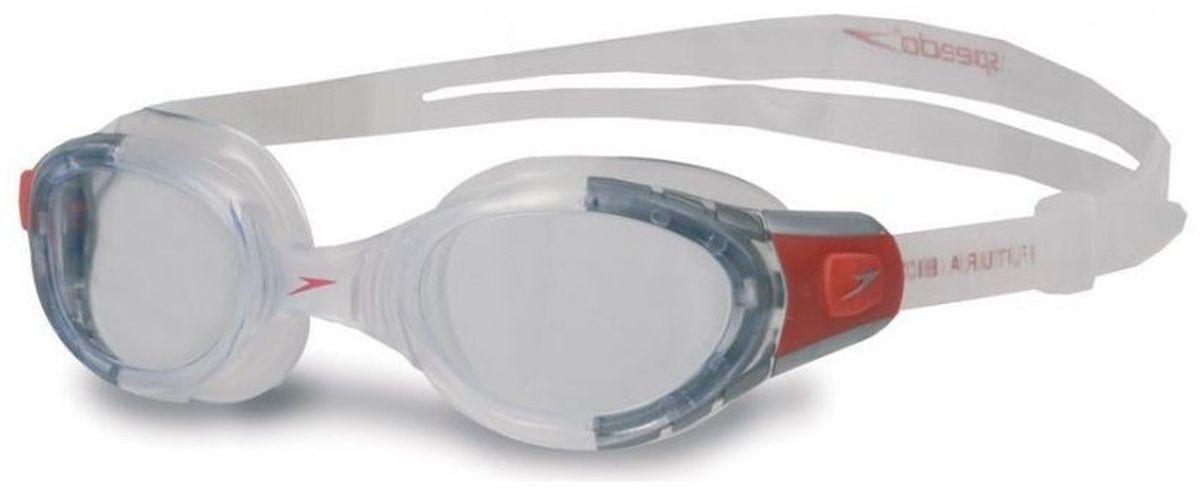Очки для плавания Speedo Futura Biofuse, цвет: прозрачный8-012323518Классические очки для плавания с отличным обзором и технологией Biofuse для максимального комфорта без прогиба линз. Оснащены линзами AntiFog Ultra с антизапотевающим компонентом для отличной видимости, линзы надежно фиксируются гибкой оправой из очищенного силикона. Очки обеспечивают защиту глаз от солнечных лучей. Технология SpeedFit.