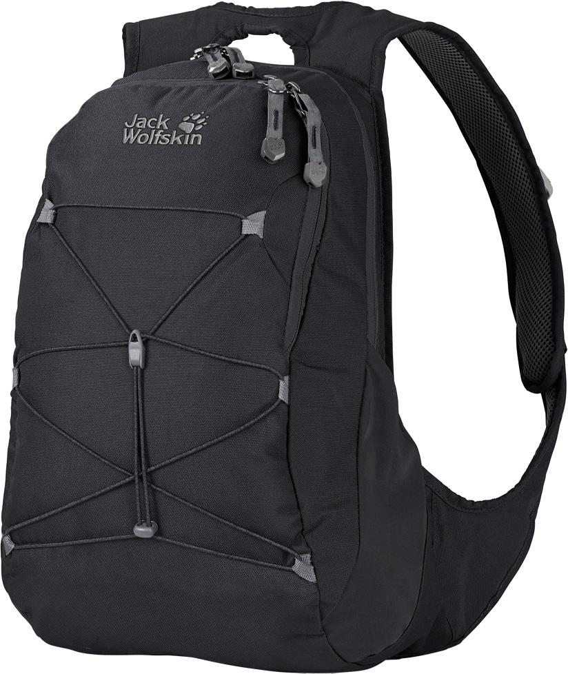 Рюкзак женский Jack Wolfskin Savona, цвет: черный, 20 л. 2004031-60002004031-6000Городской рюкзак для женщин в современном дизайне и с просторным основным отделением. В лесу на отдыхе, на прогулке по магазинам с подругами или для ежедневной дороги в офис, рюкзак Savona (Савона) станет вашим идеальным спутником. Мы разработали этот универсальный изящный рюкзак специально для женщин. Он оснащен оптимизированной системой подвески с широкими мягкими лямками и мягкими контактными поверхностями. При разработке системы подвески Snuggle Up Women (Снаггл Ап Вимен) для женщин нашей целью было создание плотно прилегающих к телу закругленных лямок без этих раздражающих кончиков, болтающихся всю дорогу. Верхняя ручка для переноски рюкзака также очень удобна и практична.В дни, когда прогноз погоды обещает ясное небо и ливень, эластичная шнуровка спереди позволит вам всегда иметь под рукой куртку от дождя.