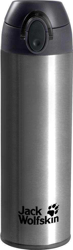 Термос Jack Wolfskin Thermolite Bottle 0,5, цвет: серый, 0,5 л. 8006041-47008006041-4700Легкий термос с двойными стенками и эргономичным горлышком. Термос Thermolite Bottle (Термолайт Ботл) сохранит ваш чай горячим целый день. И вам даже не понадобится брать с собой кружку. Поскольку у термоса имеется удобное горлышко, из которого можно пить. Конструкция из двух стенок имеет минимальный вес и сохраняет нужную температуру вашего любимого напитка. Благодаря такой конструкции, термос очень легко мыть.