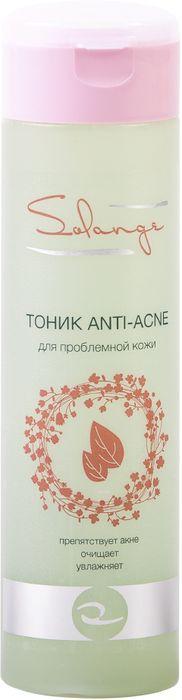 Solange Тоник для проблемной кожи Anti-Acne, 200 млС06ЕАктивные компоненты тоника очищают и улучшают состояние проблемной кожи. Концентраты салициловой и борной кислот обладают антисептическим действием, бетаин поддерживает уровень увлажнения, а экстракты ромашки и чабреца успокаивают и оказывают антиоксидантное действие. В результате сияющая, здоровая кожа.