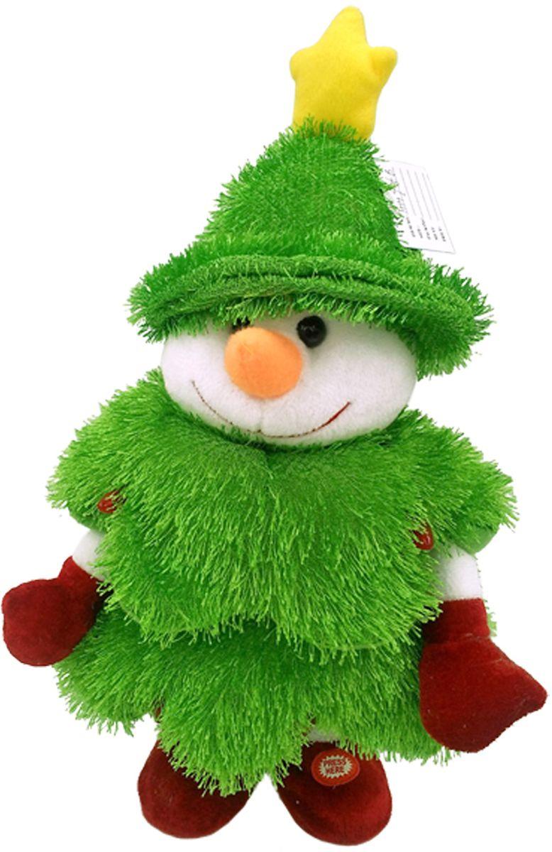 Lapa House Мягкая озвученная игрушка Елка-снеговик 30 см - Мягкие игрушки
