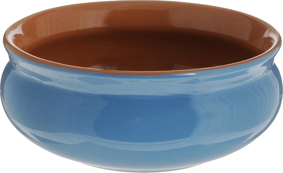 Тарелка глубокая Борисовская керамика Скифская, цвет: голубой, коричневый, 500 млРАД14458194_голубой/коричневыйТарелка глубокая Борисовская керамика Скифская, цвет: голубой, коричневый, 500 мл