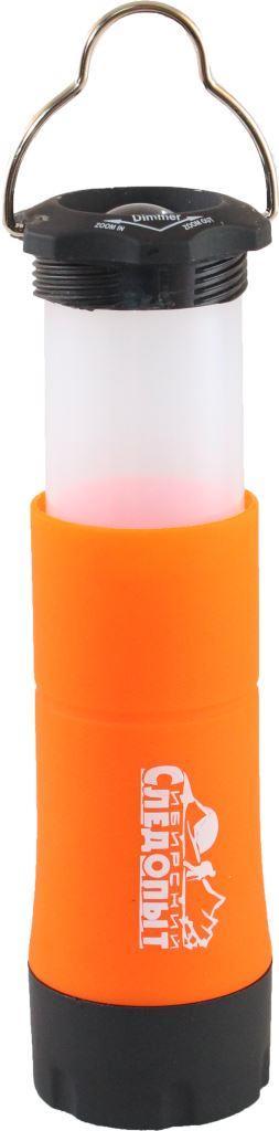 Фонарь кемпинговый Следопыт Факел, 1L, складной64049Кемпинговый фонарь Сибирский Следопыт-Факел выполнен из высококачественных материалов. Фонарь имеет уникальную конструкцию. В сложенном положении - это ручной фонарик, с возможностью фокусировки луча. В разложенном - кемпинговый светильник, который можно удобно разместить на столе или подвесить на ветку, при помощи штатного крепежа. Складной кемпинговый фонарь Сибирский Следопыт станет незаменимым помощником как в быту, так и во время Вашего отдыха на природе. Вес60 г. Тип фонаря : Кемпинговые. Габаритные размеры40 х 40 х 105 (140) мм. Значение освещенности30 лм. Количество светодиодов1 шт. Источник питания3 х ААА. Количество режимов работы -1. Особенности : фокусировка луча в режиме ручного фонаря.