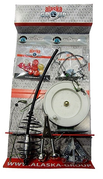 Карповый набор AGP Райт, цвет: серый, 35 предметов3633018