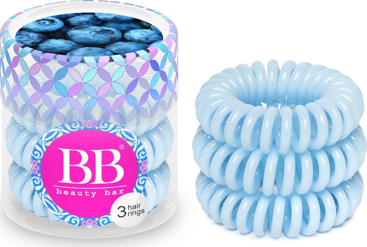 Резинка для волос Beauty Bar, цвет: светло-голубой820077Резинка-спиралька для волос Beauty Bar. Не оставляет заломов на волосах и не выдирает их, прочно держит хвост, не причиняя головной боли. При снятии резинка не тянет волосы. Также ее можно носить на руке в качестве стильного браслета.