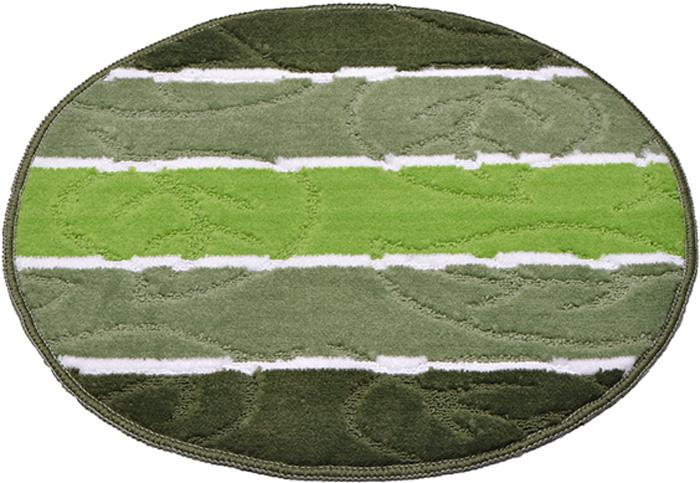 Коврик для ванной комнаты Dasch Листопад, цвет: зеленый, диаметр 55 см коврик круглый для ванной dasch листопад