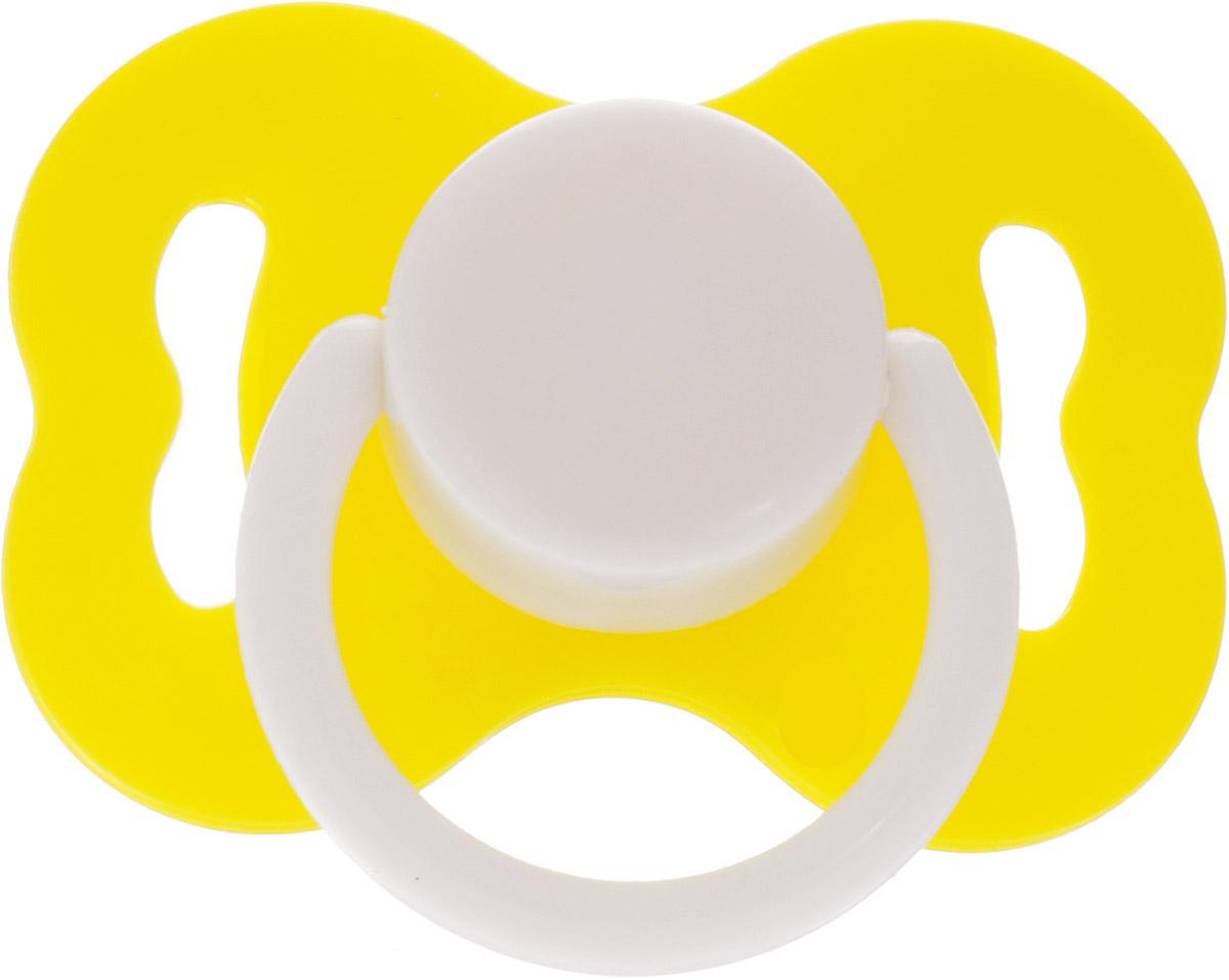 Lubby Пустышка латексная Ретро от 0 месяцев цвет желтый