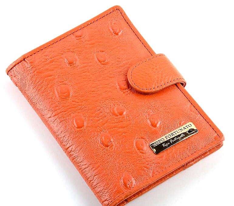 Обложка для автодокументов Topo Fortunato, цвет: оранжевый. TF 1273-092TF 1273-092Обложка на автодокументы натуральная кожа