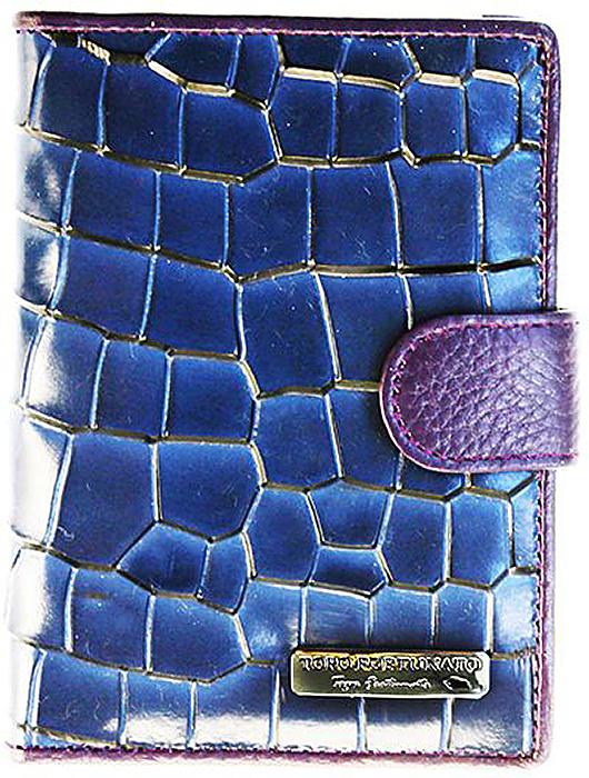 Обложка для автодокументов женская Topo Fortunato, цвет: синий. TF 5345-092TF 5345-092Обложка на автодокументы натуральная кожа