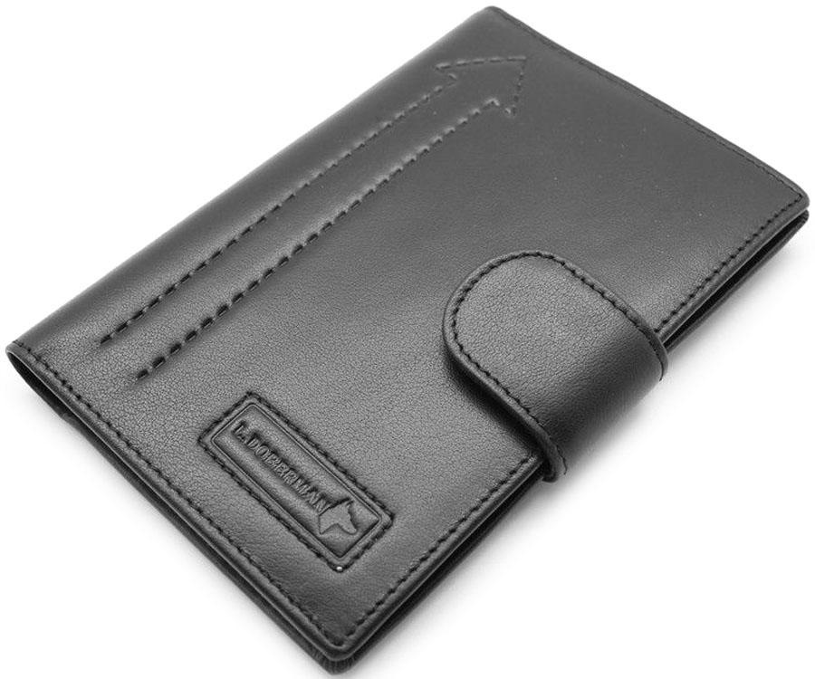 Обложка для автодокументовмужская L.Doberman, цвет: черный. LD 7700-092LD 7700-092Обложка для автодокументов. Натуральная кожа.