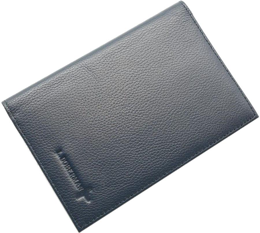 Обложка на паспорт мужская L.Doberman, цвет: черный. LD 7720-090LD 7720-090Обложка на паспорт. Натуральная кожа.