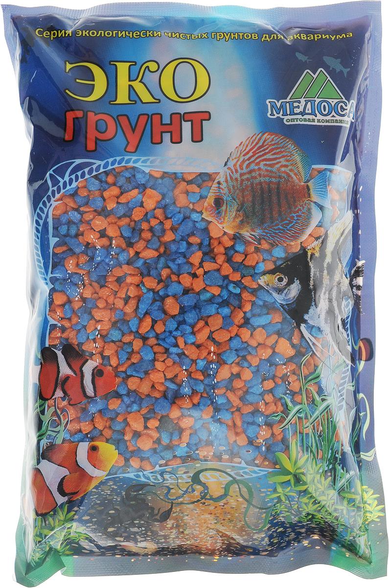 Грунт для аквариума ЭКОгрунт, мраморная крошка, цвет: оранжевый, голубой, 2-5 мм, 1 кг500035Натуральный природный грунт ЭКОгрунт прекрасно подходит для применения в пресноводных аквариумах, а также в полюдариумах и террариумах.Грунт является субстратом для укоренения водных растений и служит неотъемлемой частью естественной среды обитания рыб. Безопасен для всех видов рыб и живых растений. Рекомендуется перед использованием грунт промыть.