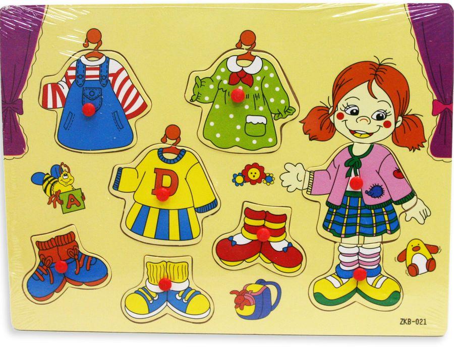 Фабрика Фантазий Пазл для малышей рамка-вкладыш Модница фабрика мастер игрушек пазл для малышей принцесса
