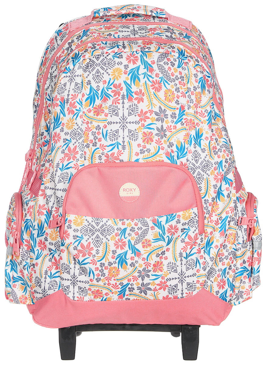 Рюкзак для девочки Roxy, цвет: розовый, светло-желтый, голубой. ERLBP03024-XYYBERLBP03024-XYYB