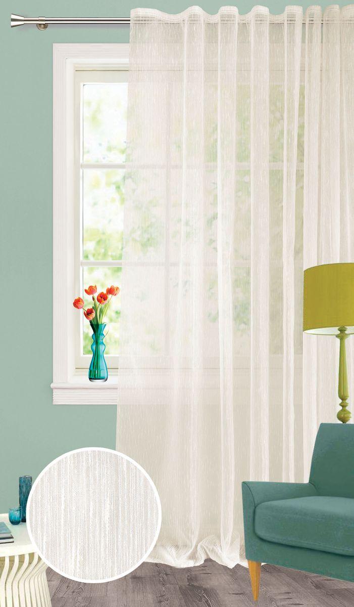 Штора Garden, на ленте, цвет: светло-серый, высота 260 см. С 537651 V2C537651V2Изящная тюлевая штора из органзы светло-серого цвета. Тонкая, прозрачная ткань, хорошо драпирующиеся, оснащена шторной лентой.