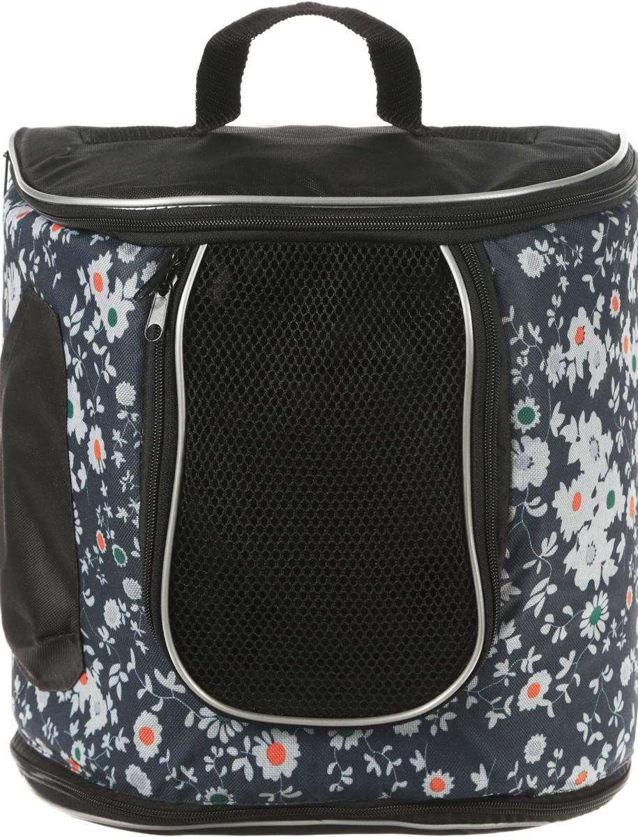 Переноска для животных Гамма  Рюкзак , цвет: синий, черный, белый, 30 х 30 х 30 см - Переноски, товары для транспортировки