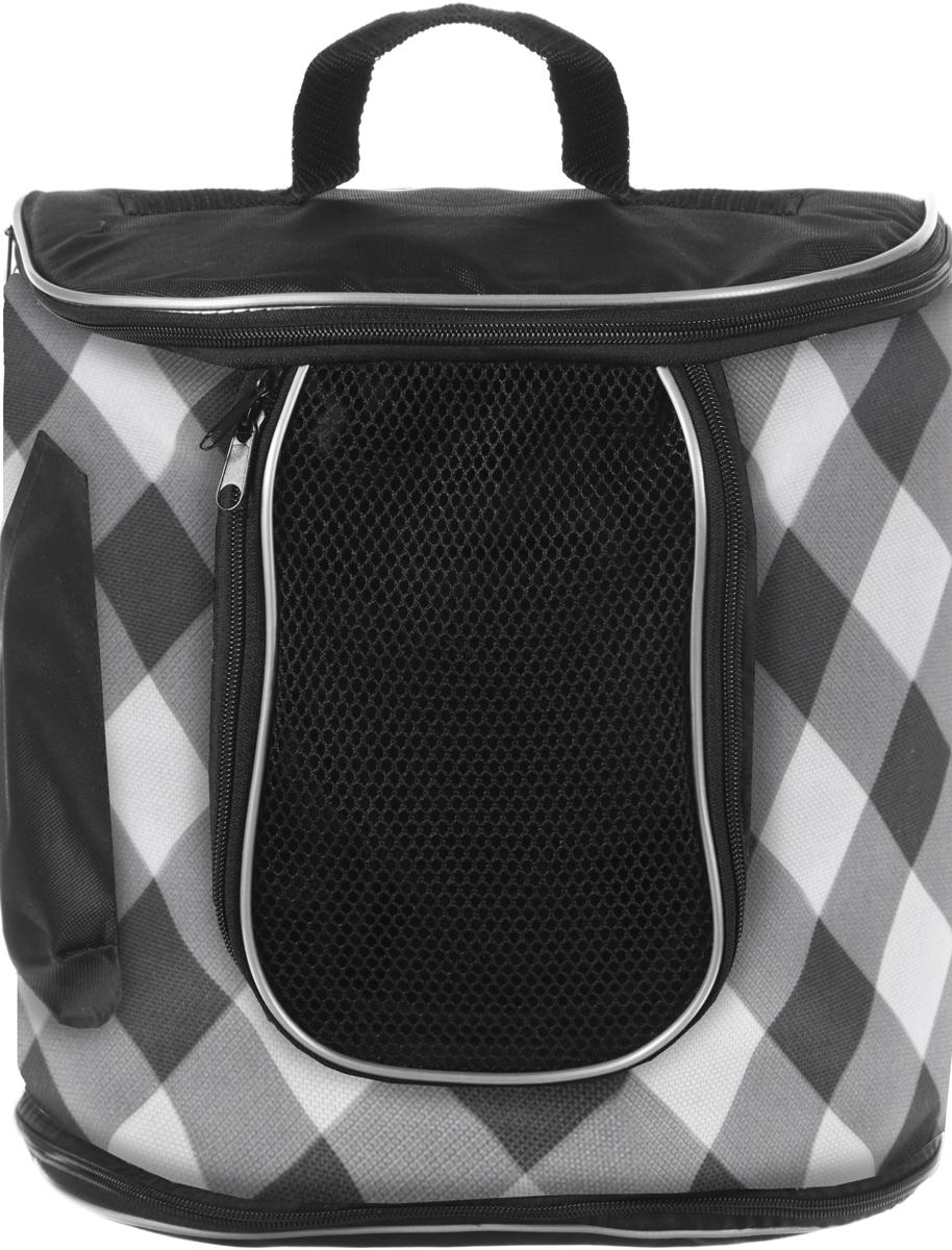 Переноска для животных Гамма  Рюкзак , цвет: черный, серый, 30 х 30 х 30 см
