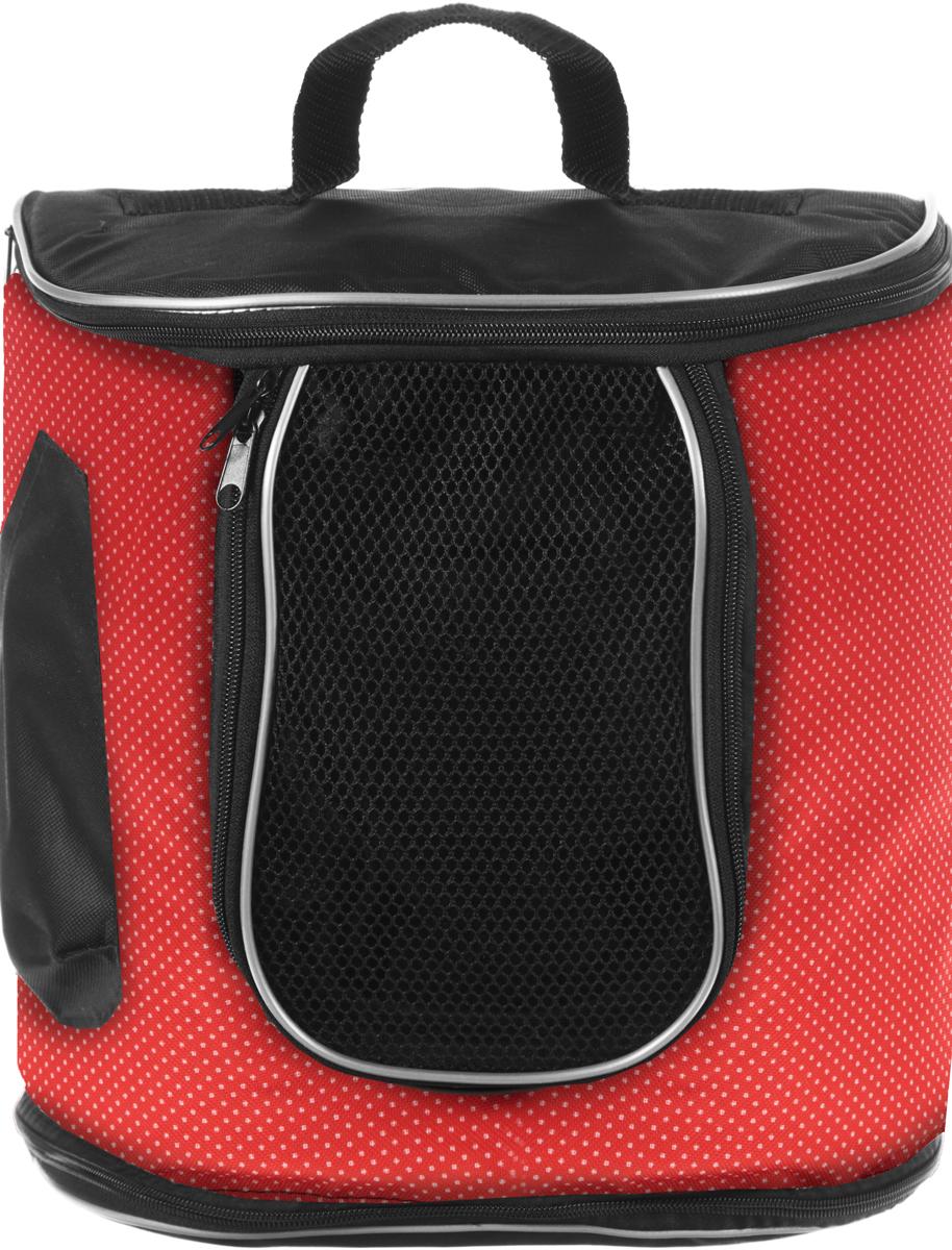 Переноска для животных Гамма  Рюкзак , цвет: оранжевый, белый, черный, 30 х 30 х 30 см
