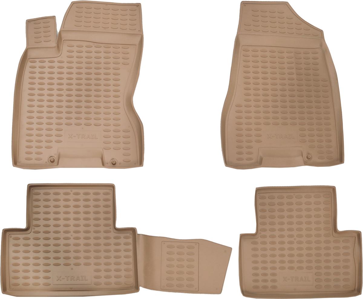 Коврики в салон автомобиля Novline-Autofamily, для Nissan X-Trail (T31), 2007-2010, 2011-02/2015, 4 штNLC.36.20.212Коврики Novline-Autofamily улучшат внешний вид салона автомобиля и надежно уберегут его от пыли, грязи и сырости, а значит, защитят кузов от коррозии. Полиуретановые коврики гладкие, приятные и не пропускает влагу. Полиуретановые автомобильные коврики произведены из высококачественного материала, который держит форму и не пачкает обувь. Коврики надежно крепятся на полу и не скользят, что очень важно во время движения, особенно для водителя. Изделия из полиуретана надежно удерживают грязь и влагу, при этом всегда выглядят довольно опрятно. И чистятся они очень просто: как при помощи автомобильного пылесоса, так и различными моющими средствами.