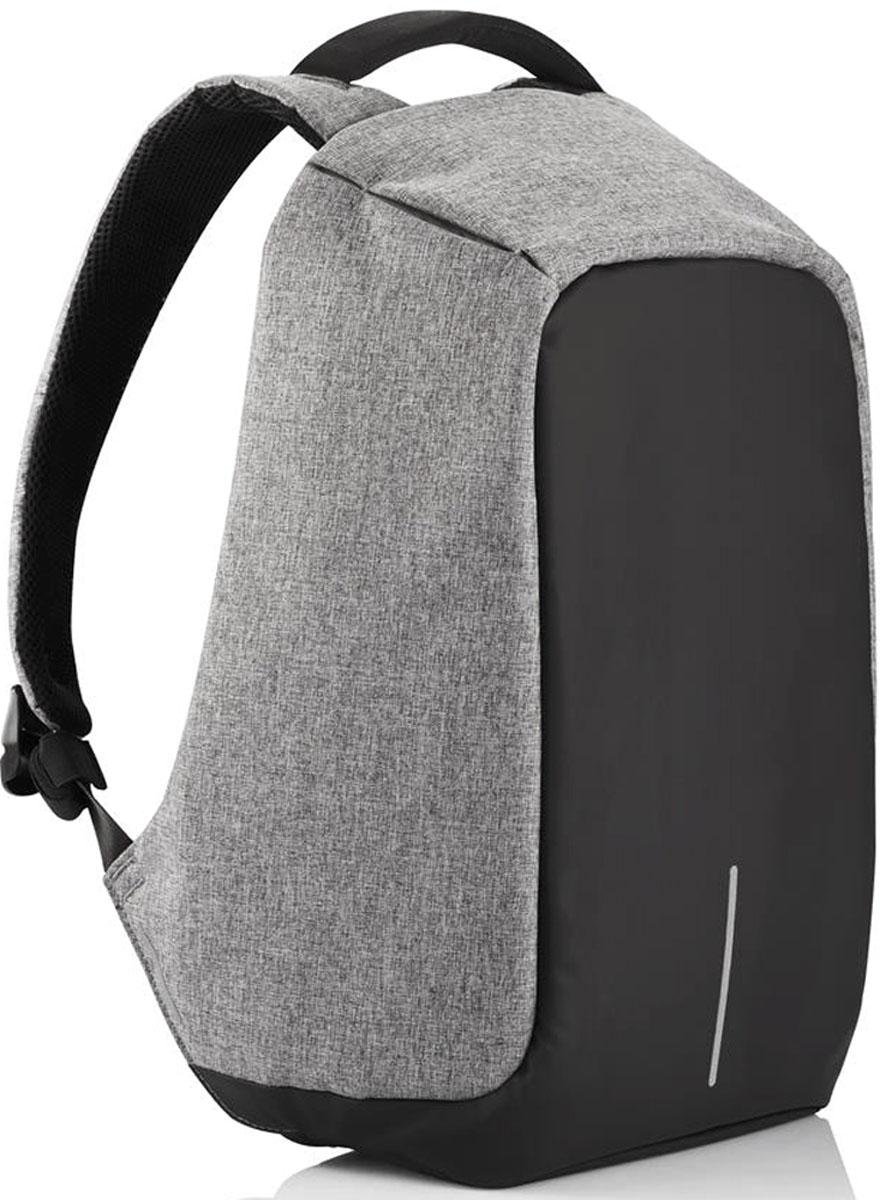 Рюкзак для ноутбука до 15 XD Design Bobby, цвет: серый. Р705.542Р705.542• Полная защита от карманников: не открыть, не порезать• USB-порт для зарядки гаджетов от спрятонного внутри рюкзака аккумулятора• Светоотражающие полосы• Супер-легкий: на 25% легче аналогов• Отделение для ноутбука до 15,6• Отделение для планшета• Влагозащита• Лямка для крепления на чемодан