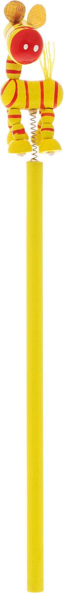 Карамба Карандаш чернографитный Зебра цвет корпуса желтый28_желтыйЧернографитный карандаш Карамба Зебра будет незаменим и для деток, которые только начинают рисовать, и для школьников. Его удобный круглый корпус изготовлен из натурального дерева. Сверху на пружинке имеется оригинальная фигурка в виде зебры. Карандаш имеет очень прочный грифель самого высокого качества, который не крошится и не ломается при заточке. Такой забавный письменный аксессуар идеально лежит в руке и подарит массу удовольствия во время письма или рисования.