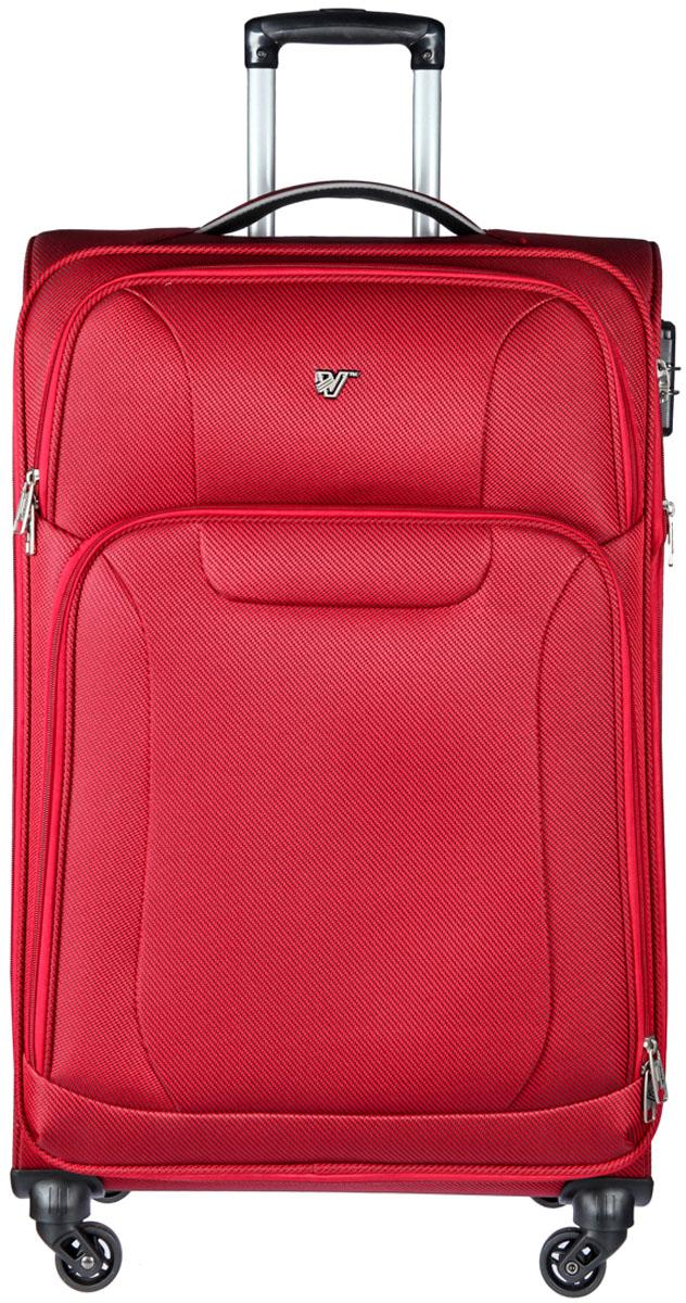 Чемодан-тележка Verage, цвет: красный, 102 л. GM16033w28GM16033w28 redЗакрывается по периметру на двухстороннюю молнию, оснащён верхней и боковой ручкой, четырьмя колесиками 360°, внутри один отдел для одежды, один карман на молнии, одна техническая молния с бегунком, снаружи на передней стенке два карман на молнии, возможность увеличения чемодана на 20% (за счет молнии), встроенный кодовый замок TSA, максимальная высота выдвижной ручки 36 см, объем102 л, внутрений размер 70-47-25 см, вес 4 кг