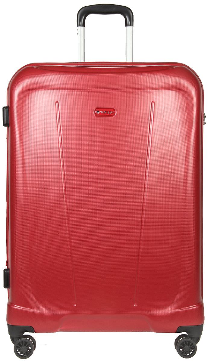 Чемодан-тележка Verage, цвет: красный, 95 л. GM15105w28GM15105w28 redзакрывается по периметру на двухстороннюю молниюоснащён верхней ручкой, четырьмя колесиками 360°внутри один отдел для одеждыодин сетчатый карман на молнииодна техническая молния с бегункомвозможность увеличения чемодана на 20% (за счет молнии)встроенный кодовый замок максимальная высота выдвижной ручки 40 смобъем 95 лвнутрений размер 70-50-27 смвес 4.9 кг