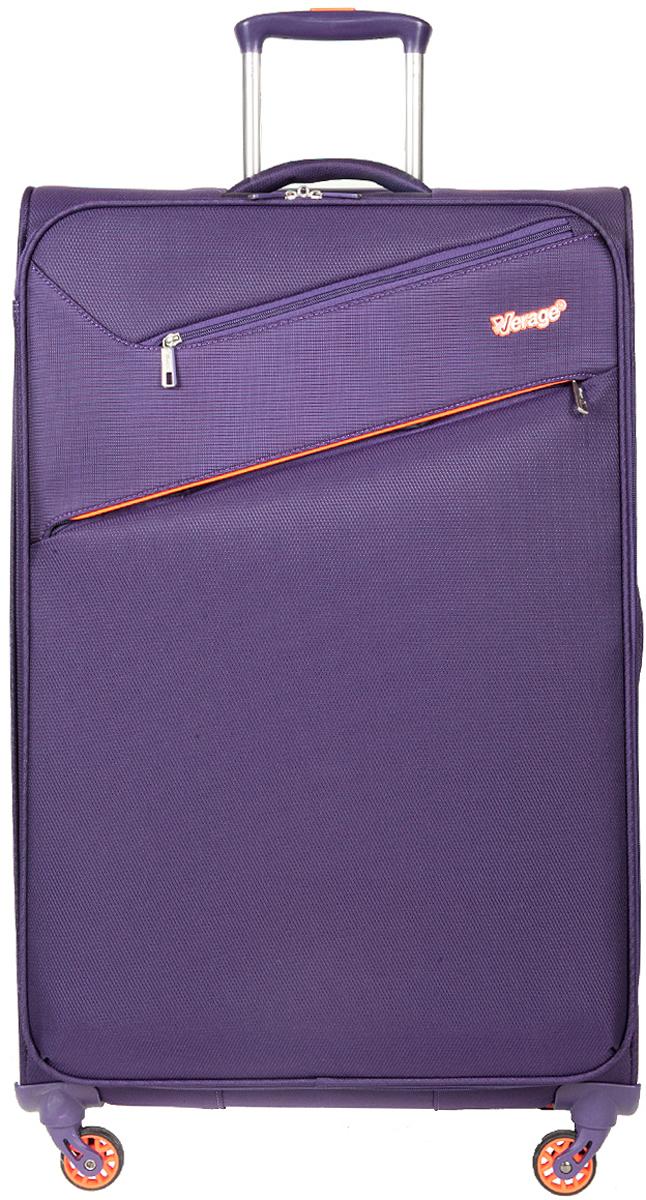 Чемодан-тележка Verage, цвет: фиолетовый, 97 л. GM15089 w28GM15089 w28 purpleзакрывается по периметру на двухстороннюю молниюоснащён верхней, боковой ручкой, четырьмя колесиками 360°внутри один отдел для одеждыодин сетчатый карман на молнииодна техническая молния с бегункомснаружи на передней стенке два кармана на молниимаксимальная высота выдвижной ручки 36 смобъем 97 лвнутрений размер 75-46-28 смвес 2.35 кг