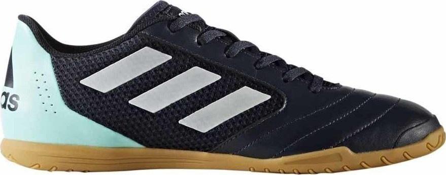 Кроссовки для футзала муж Adidas ACE 17.4 Sala, цвет: черный, голубой, белый. BY1958. Размер 10 (43)BY1958Футбольные бутсы (для зала) муж.• Верхняя часть: Мягкий, легкий верхпринимает форму вашей ноги• Подошва: Подошва обеспечивает отличноесцепление даже на высоких скоростях нагладких полированными покрытиях